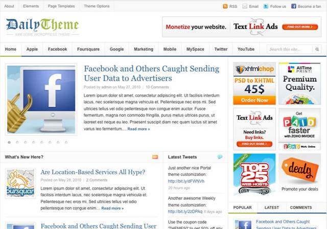Daily WordPress premium Theme Preview