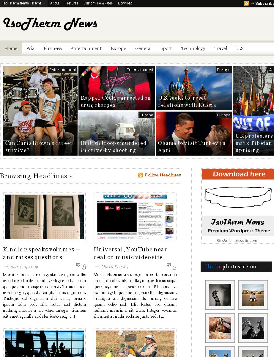 IsoTherm News Premium WordPress Theme preview