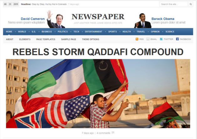 Newspaper WordPress Premium Theme Preview