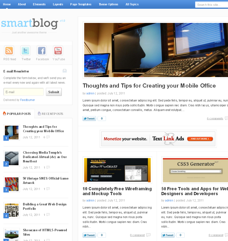 Smartblog WordPress Premium Theme preview