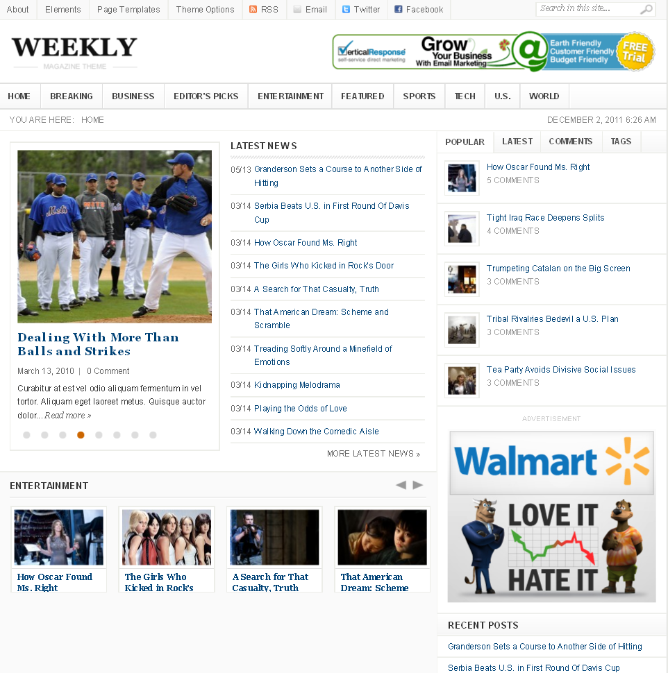 Weekly WordPress Premium theme preview