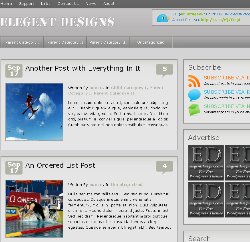 elegentdesigns WordPress premium theme preview