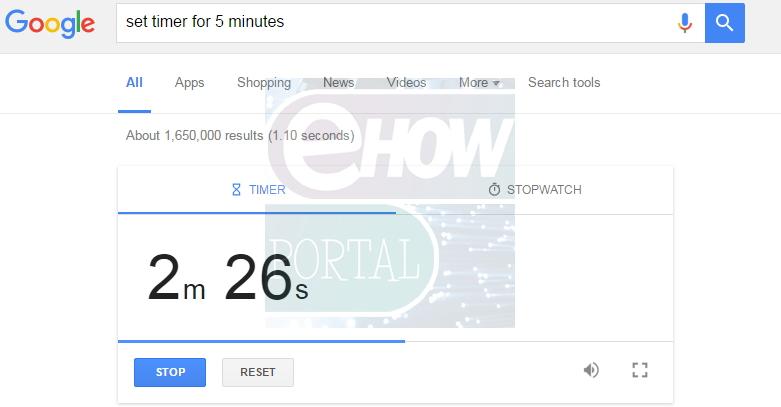 Set timer with Google
