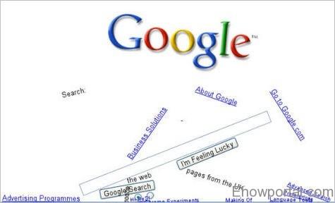 Google Gravity - Google im Feeling Lucky Tricks