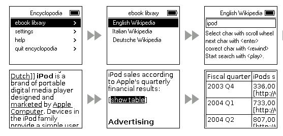 Encyclopedia on iPod