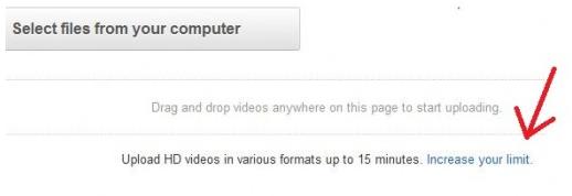 Uploading larger videos on YouTube