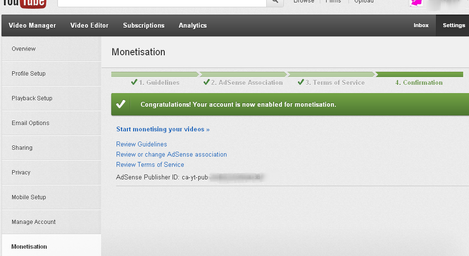 YouTube monitisation