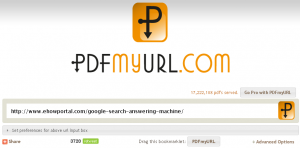 Convert and save PDF from any web page