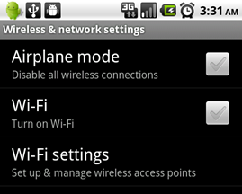Disable Wireless network