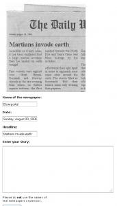 Create your own fun newspaper