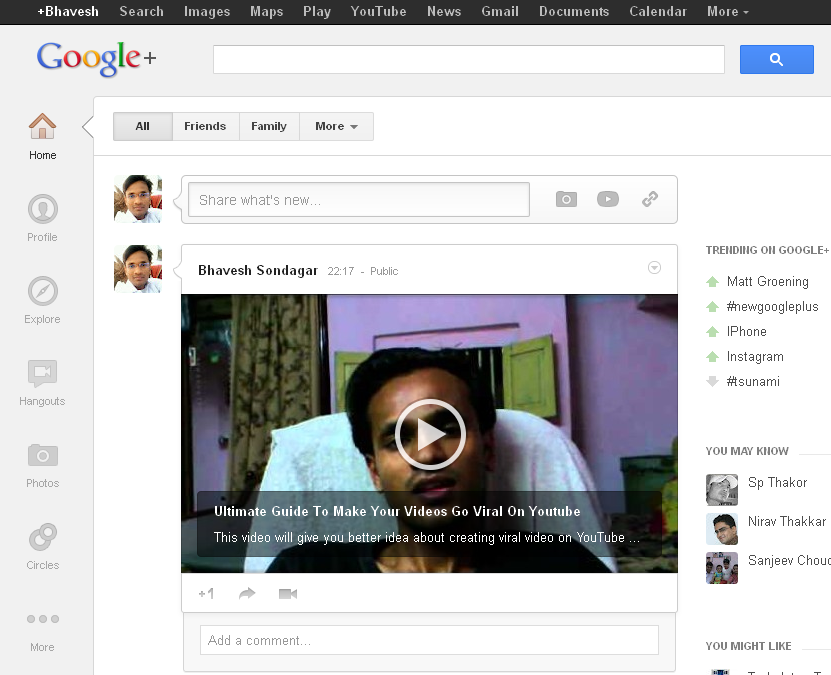 Google+ New Interface