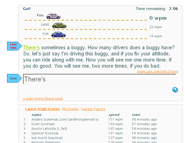 TypeRacer – Test your typing speed and learn to type faster