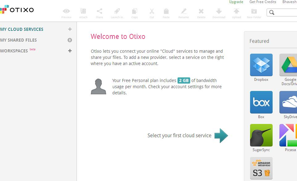 Otixo All your cloud files from a single login Cut, Copy & Paste Files Between Dropbox, Google Docs, SugarSync, FTP & WebDAV
