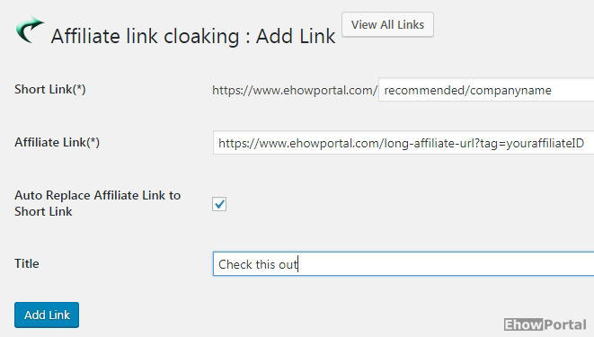 How To Cloak Affiliate Links In WordPress Blog