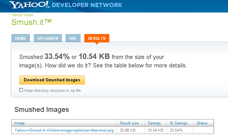Yahoo  Smush.it- Online image optimizer free tool