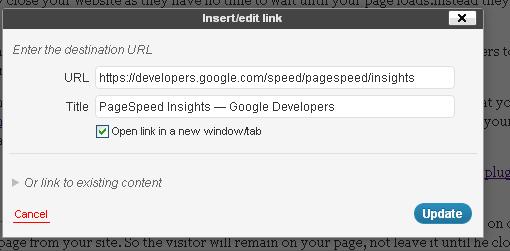 open external links in new tab in wordpress