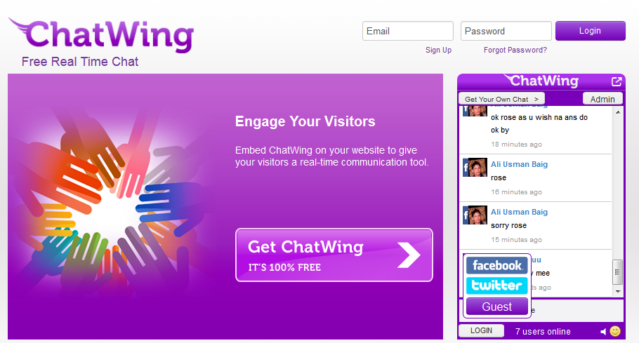 ChatWing Chatwing  Free Real Time Chat Widget For Blogs