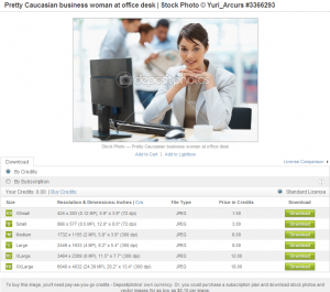 Pretty Caucasian business woman at office desk Stock Photo- Yuri_Arcurs 3366293