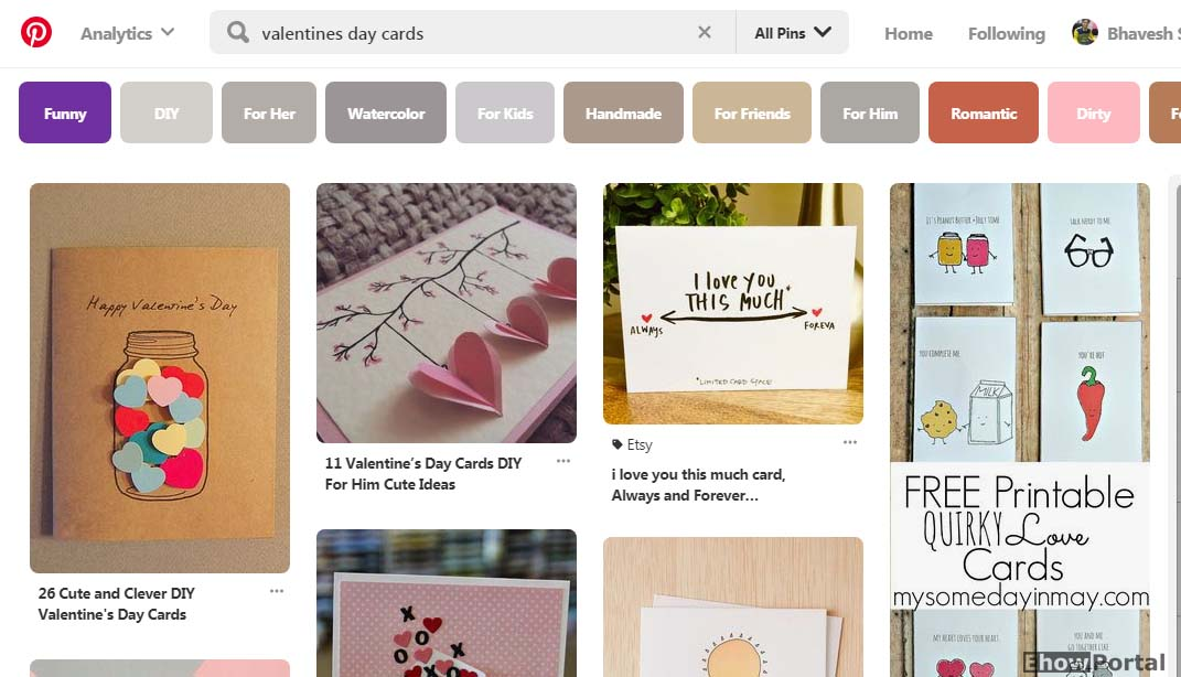 Valentine's Day Gifts Cards on Pinterest