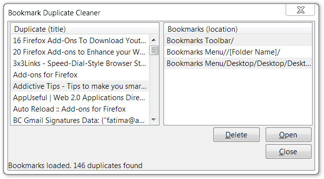 Find & Remove Duplicate Bookmarks With Ease In Firefox