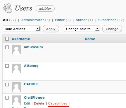 User Role Editor - Manage Multi Author WordPress Blog