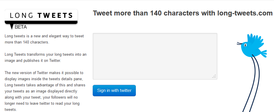Tweet more than 140 characters with long-tweets