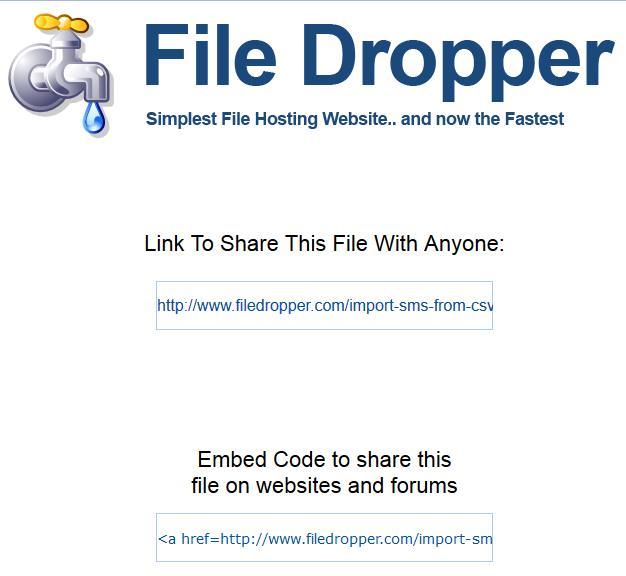 FileDropper : Free File Uploader. Up to 5 GB per File.