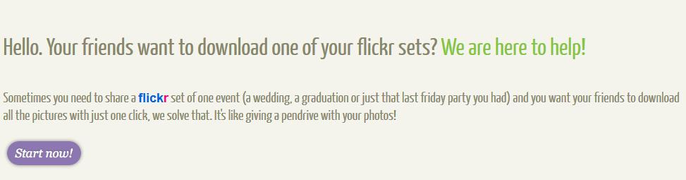 Download Flickr Photos in Batches