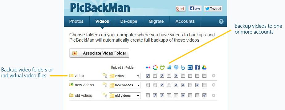 PicBackMan To Automatically Bulk Upload Your Photos To Multiple Accounts