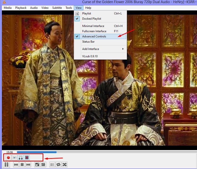 Advanced Control - VLC Media Player