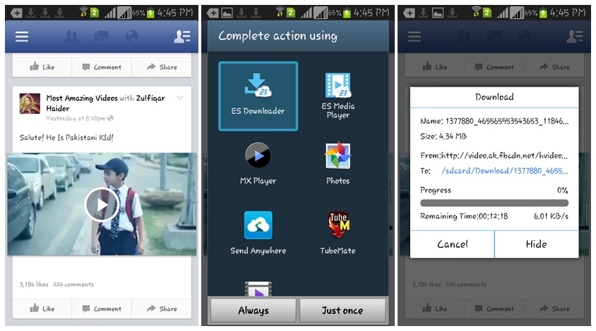 How To Download Facebook Videos On Any Android Phones
