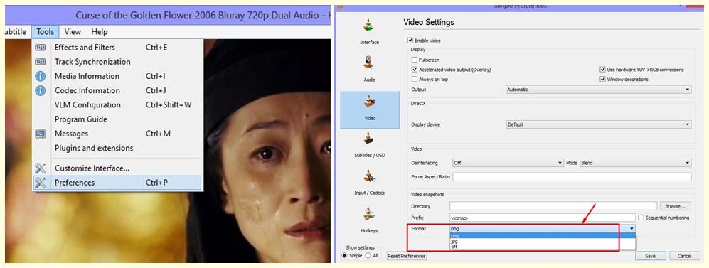 Taking Snapshots on VLC Media Player