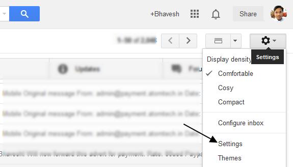 Gmail Forwarding Setting