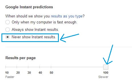 Google Instant predictions