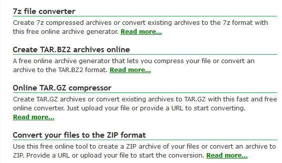 Online file compression - how to compress a file online