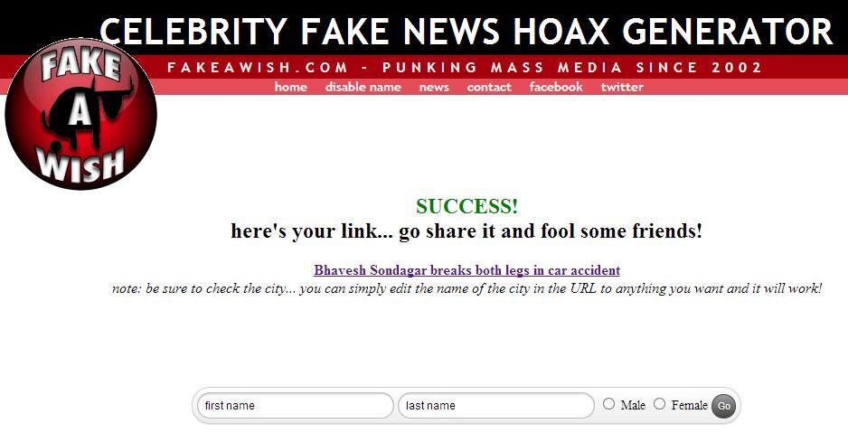 Fake News Generator