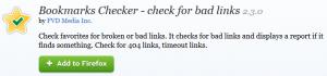 Bookmark Checker Firefox Plugin - Check for Bad Links