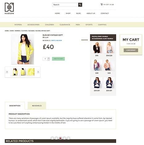 Hudson – eCommerce WordPress Theme