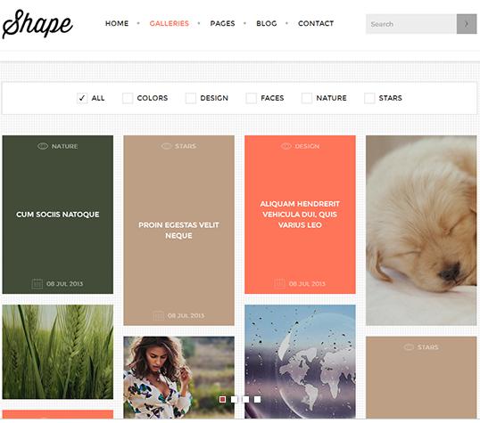 Shape – Photography WordPress Theme