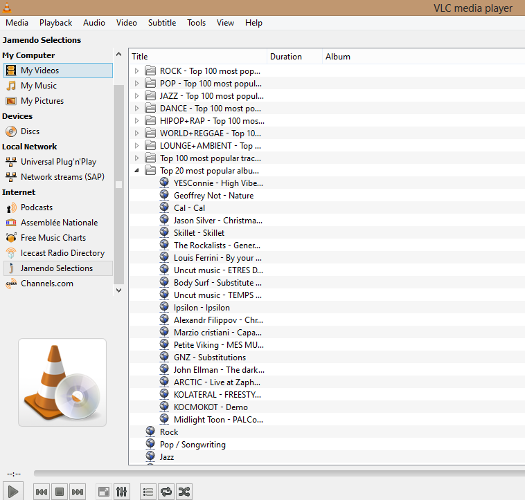 VLC Media Player Channels List