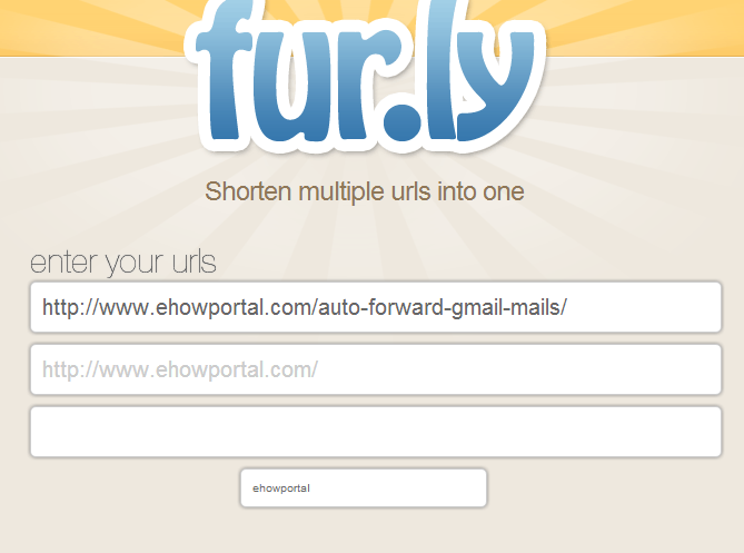 Replace multiple urls with just a single url using fur.ly.