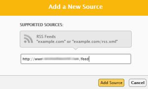 Add Feed Source on Facebook RSS Graffiti