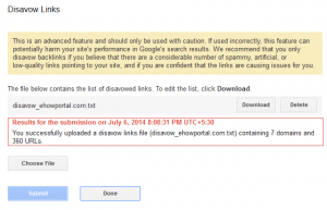 Spammy URLs to disavow from Google Webmaster Tool