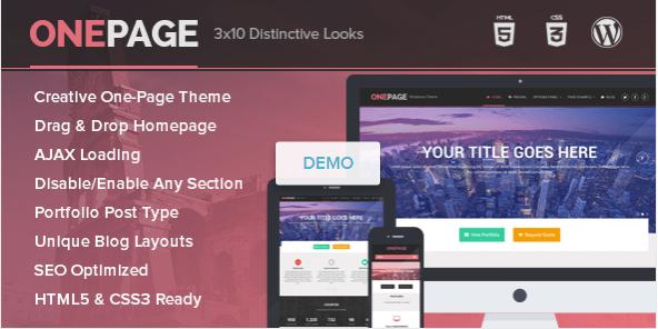OnePage WordPress theme