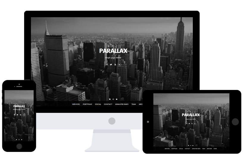 parallax wordpress themes