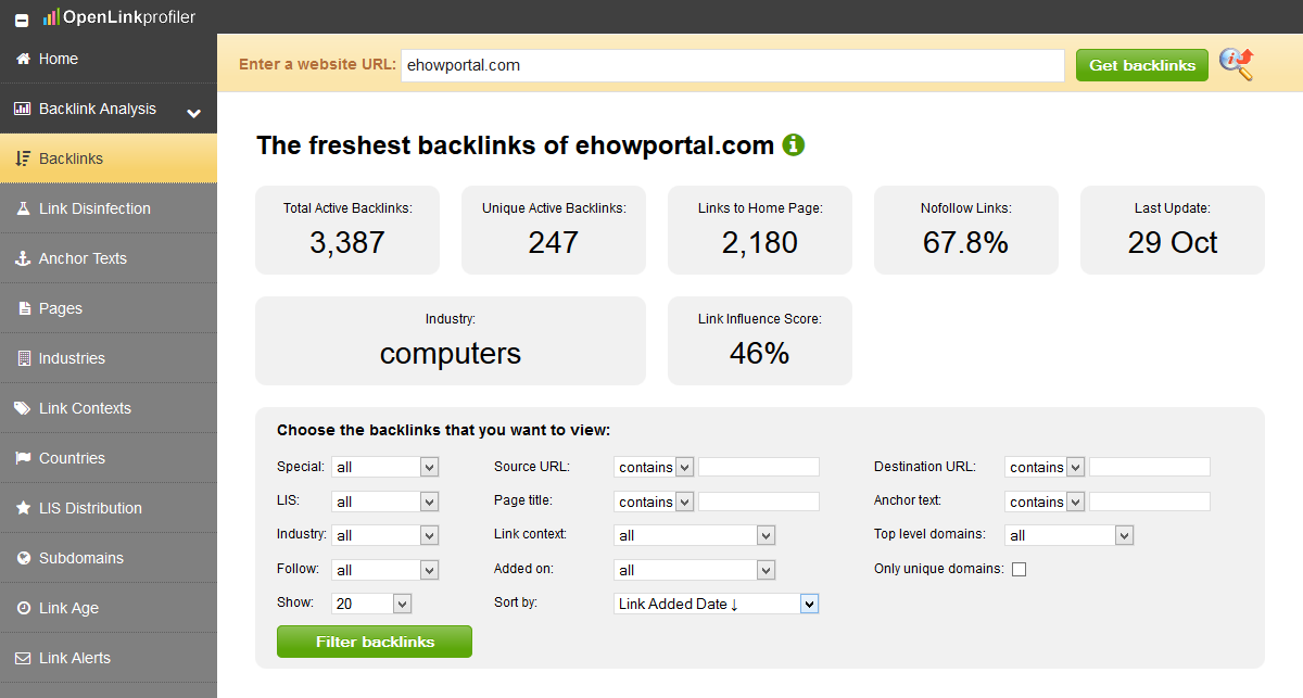 openlinkprofiler - FREE Backlink Checker SEO Tool Review
