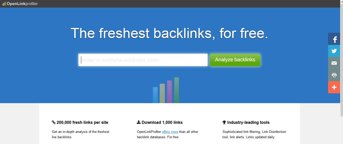openlinkprofiler - FREE Backlink Checker Tool