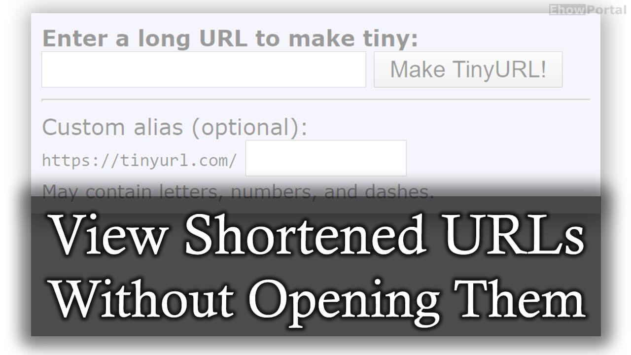 View Shortened URLs Without Opening Them