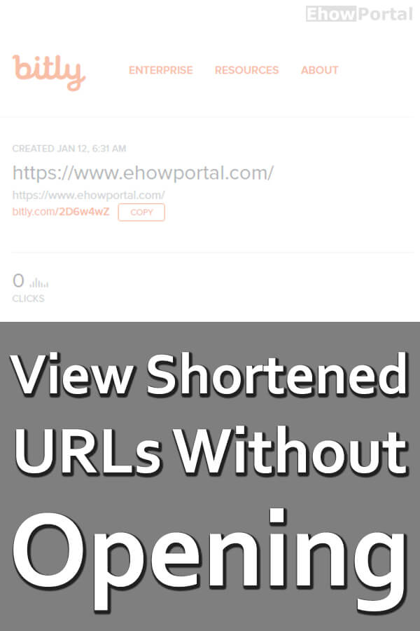 View Shortened URLs Without Opening