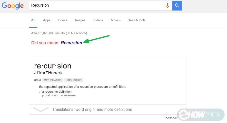 Search for 'Recursion'